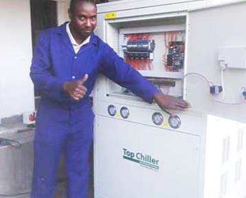15TR (53KW) Air Cooled Chiller In Kenya