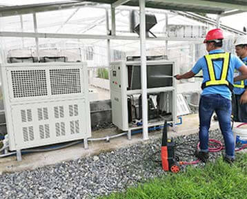 4Units 5TR (18KW) Air Cooled Chiller In Thailand