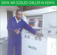 52KW AIR COOLED CHILLER IN KENYA
