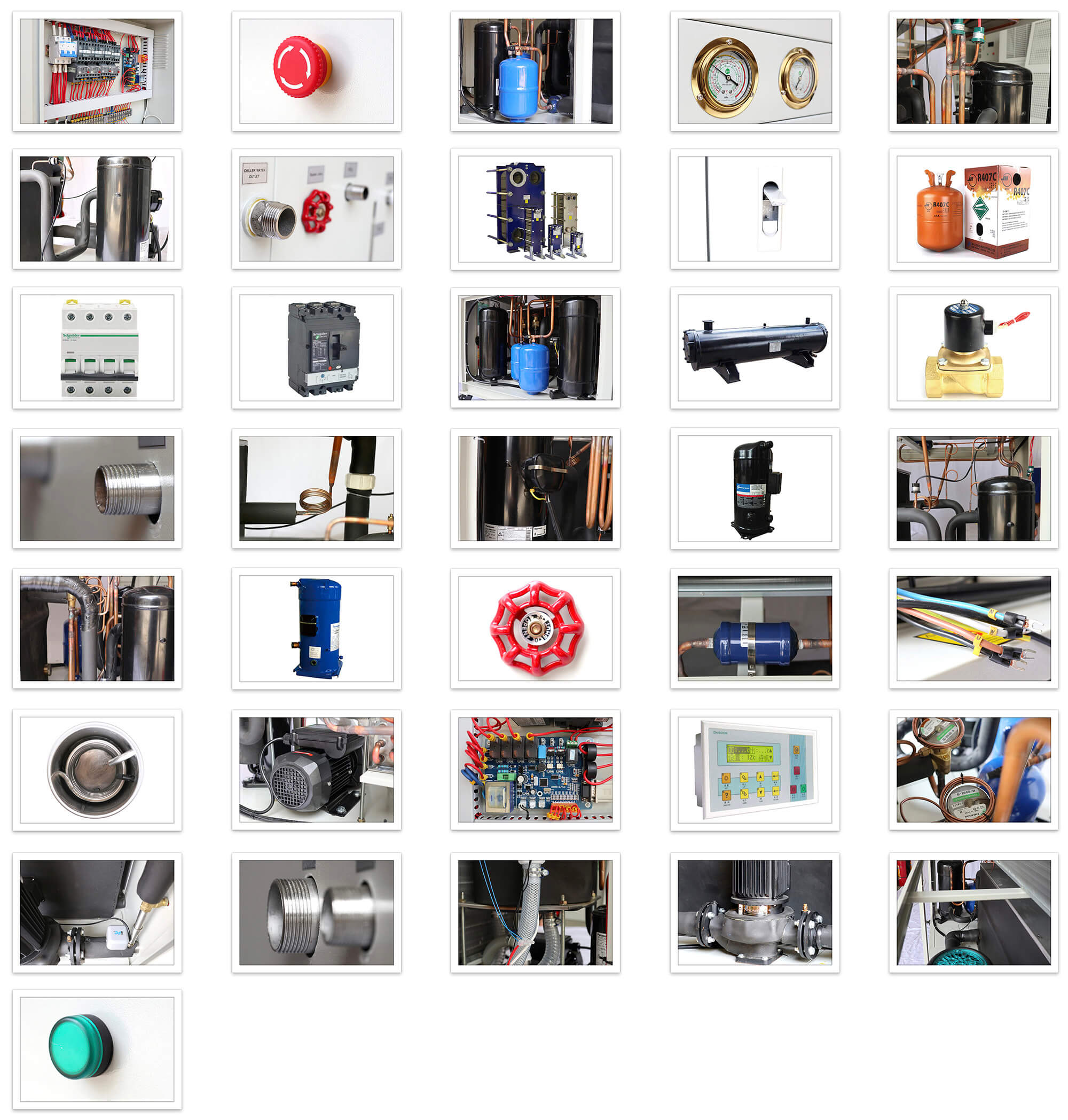 industrial water chiller main parts