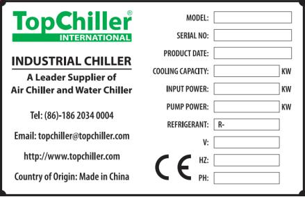 TopChiller Nameplate