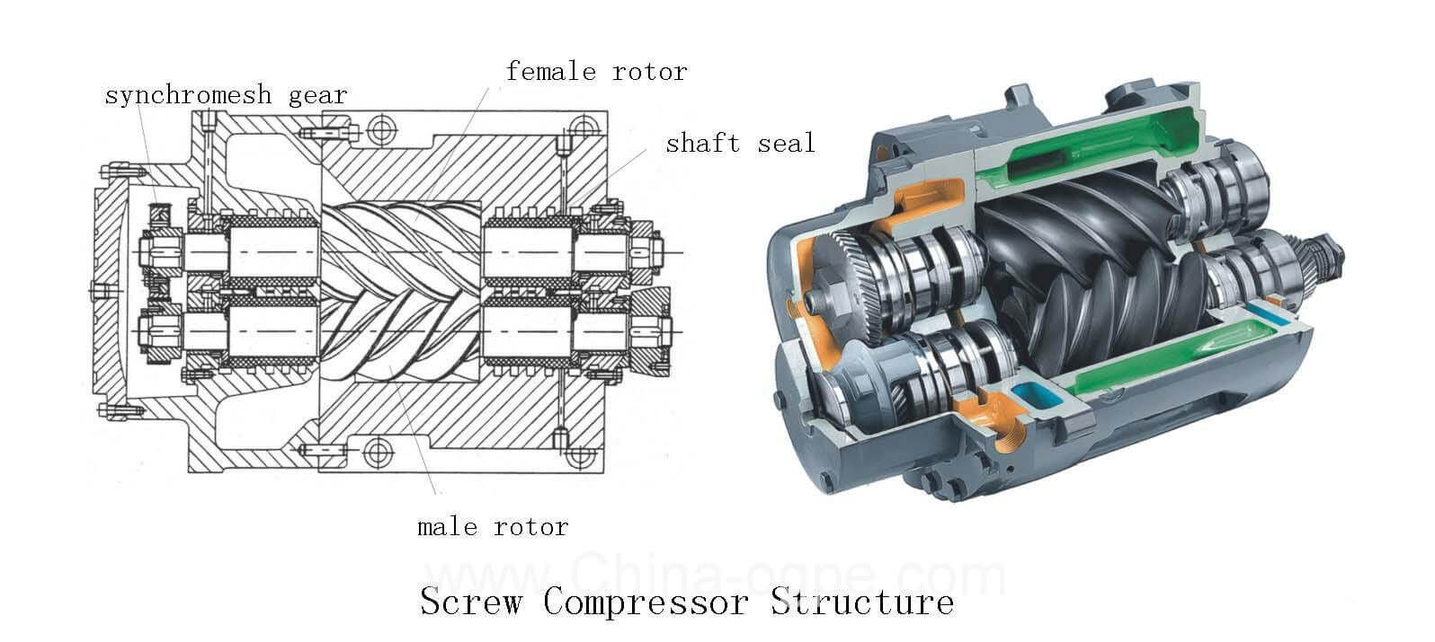 Screw Compressor Structure