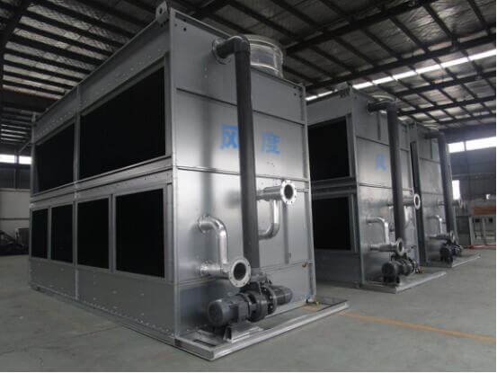 cross-flow closed cooling tower