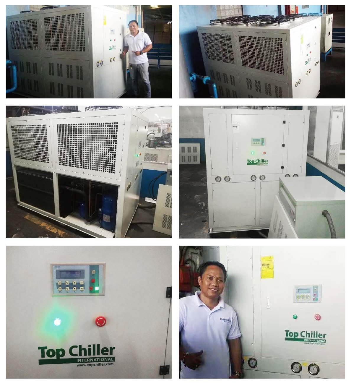 30Ton industrial air chiller Anodizing & Plating Processes