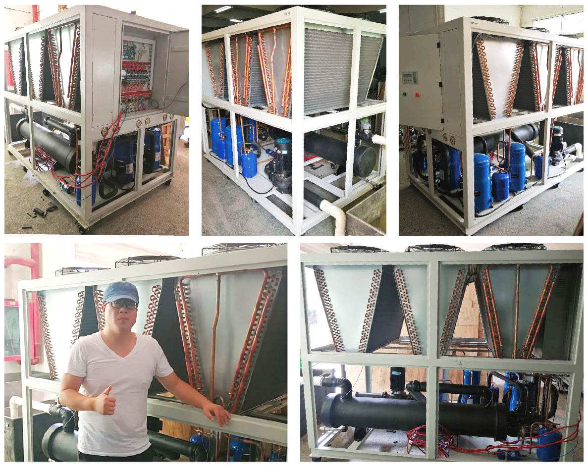 40Ton Industrial air chiller for die casting industry