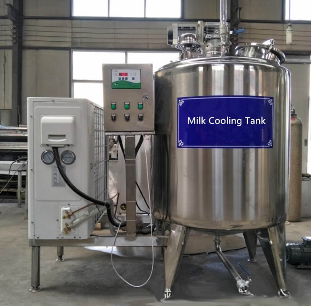 glycol chiller for food and dairy milk cooling