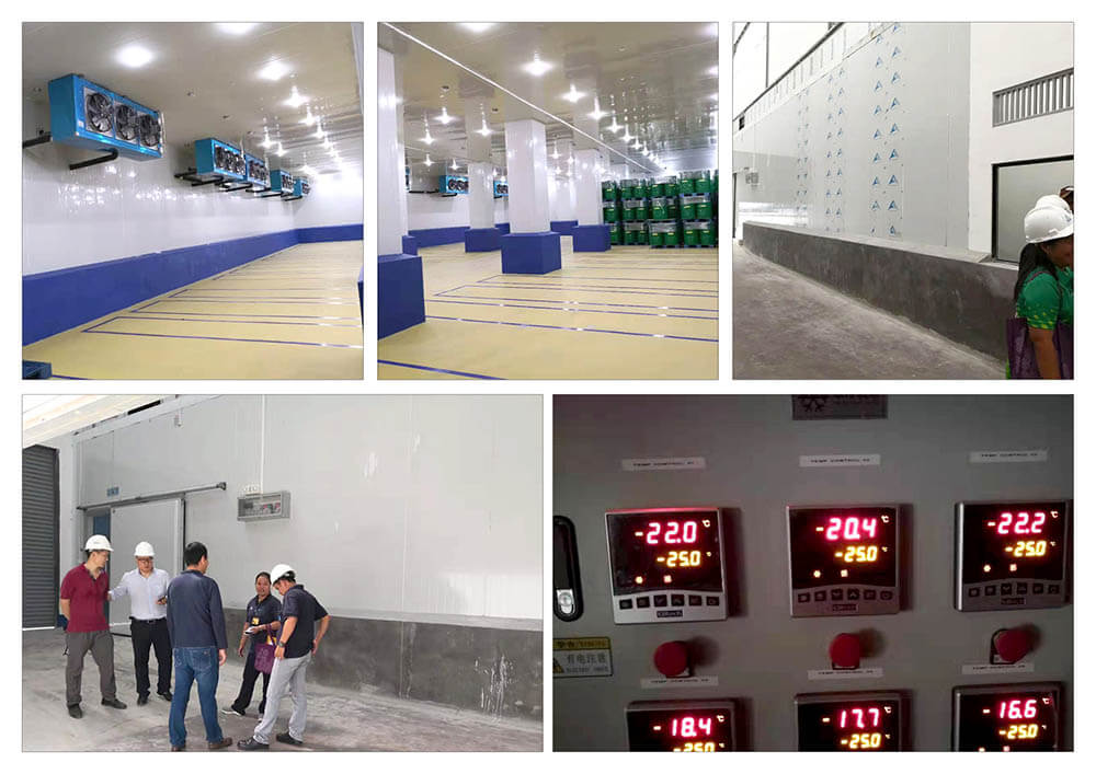 Cold storage room project from TopChiller